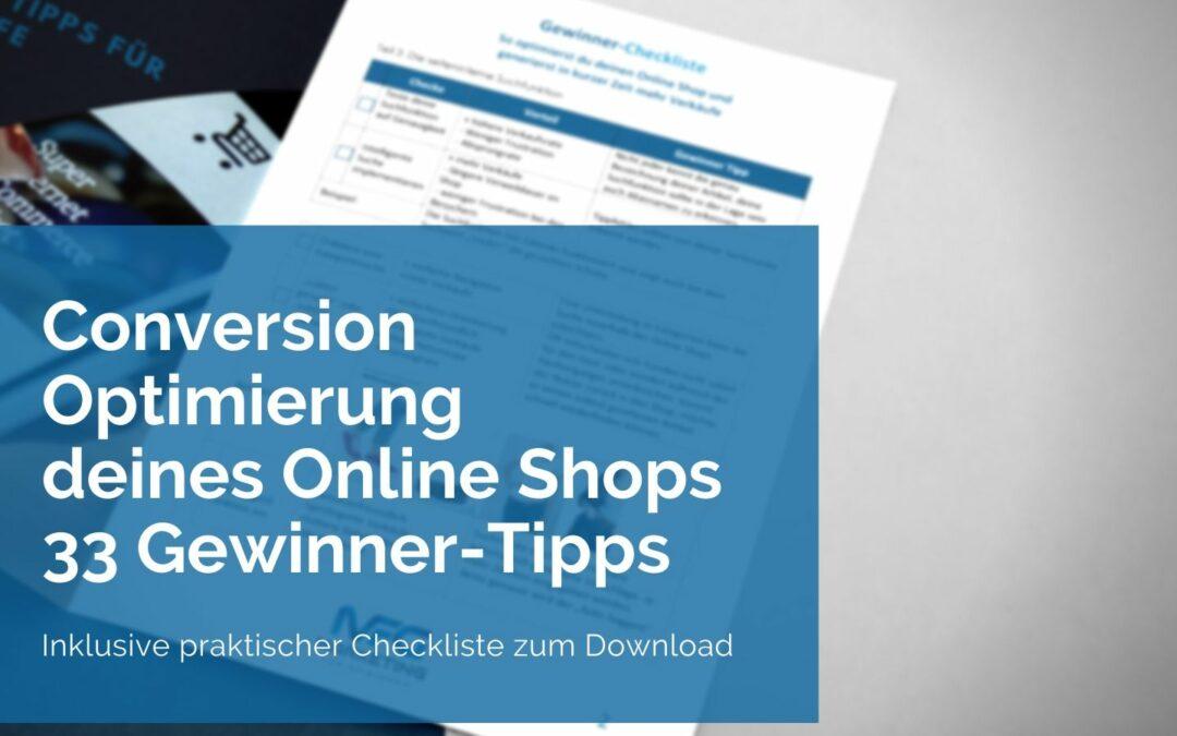 Conversion Optimierung Online-Shop – 33 Tipps