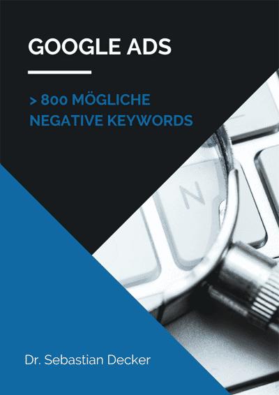 Negative Keywords Google